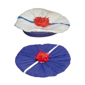 achat deguisement pas cher chapeau beret marin papier pompon. Black Bedroom Furniture Sets. Home Design Ideas
