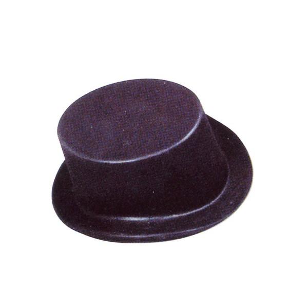 achat deguisement pas cher chapeau haut de forme noir plastique. Black Bedroom Furniture Sets. Home Design Ideas
